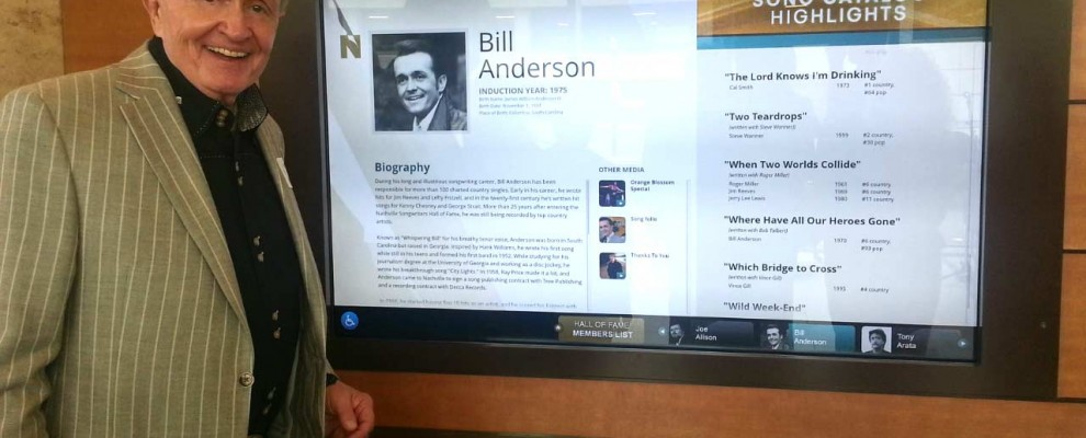 BILL ANDERSON AT THE NASHVILLE SONGWRITERS HALL OF FAME