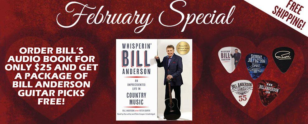 Free Bill Anderson Guitar Picks!