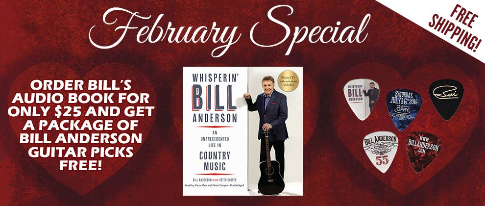 Free Bill Anderson Guitar Picks!